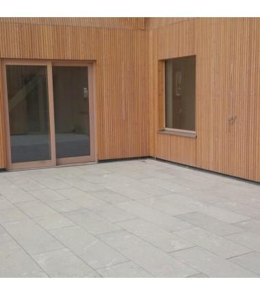 Terrassenplatten Muschelkalkstein grau